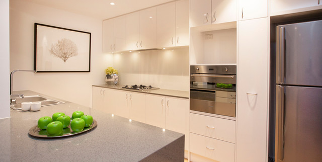 Display Apartment Surflen Street Adelaide Cbd Contemporary Kitchen