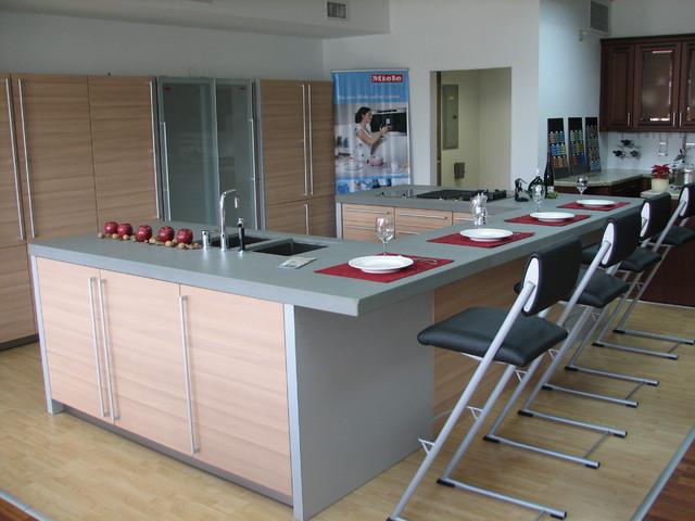 Display at German Kitchen LLC contemporary-kitchen