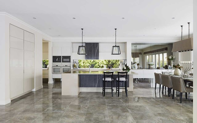 Display home bordeaux 56 traditional kitchen for Metricon kitchen designs