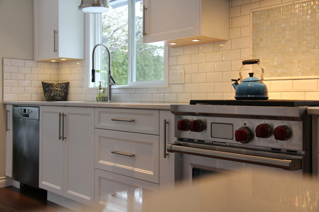 Distant Grey Shaker Style Kitchen Comox