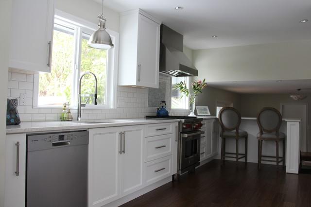 Distant Grey Shaker Style Kitchen Comox