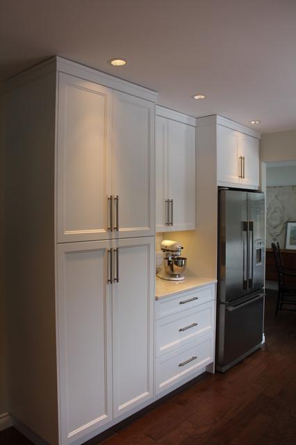 Distant grey Shaker-Style kitchen - Comox