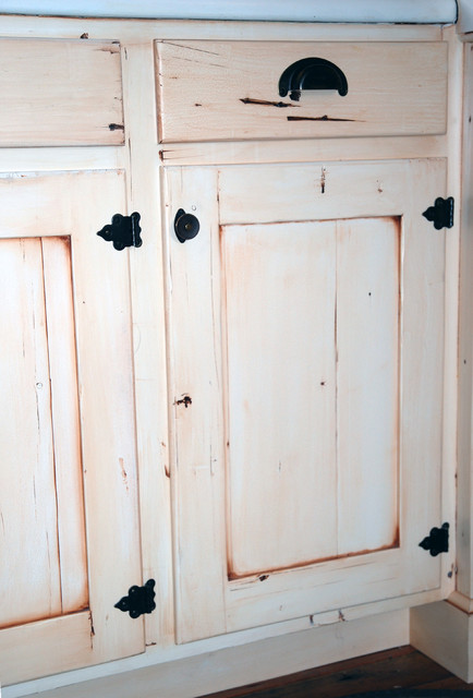 Distressed Cabinet Door Farmhouse Kitchen Denver By