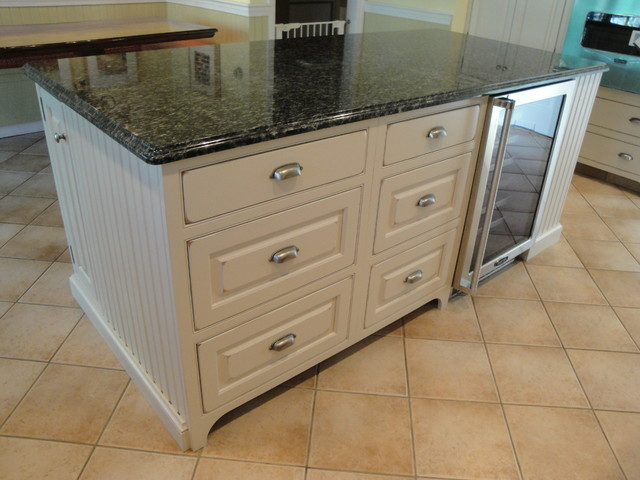 Distressed White With Rub Through Sanding Traditional