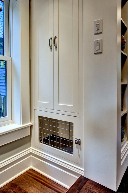 Dog Crate And Pantry Craftsman Kitchen Seattle By