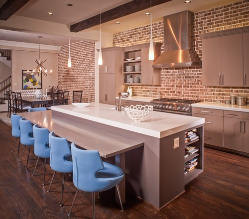 contemporary kitchen Color of the Month: Decorating with Light Blue
