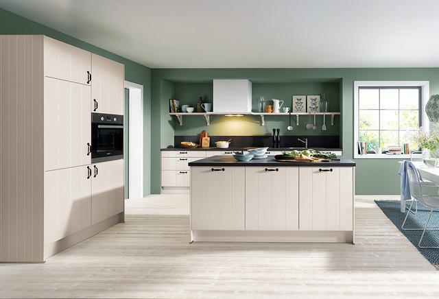 Domus Sand Grey Silk Gloss Schüller Kitchen Country Kitchen