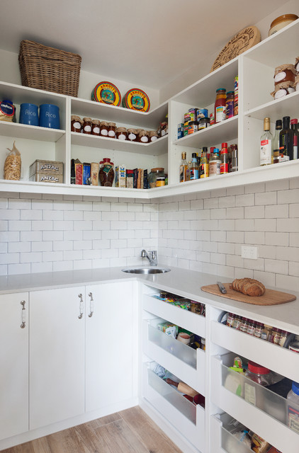 Doncaster East Home - Walk-in pantry - Farmhouse - Kitchen - Melbourne - by smarterBATHROOMS+