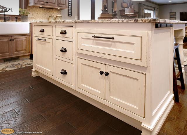 Door style: Chesapeake Inset   Species: Maple   Finish: Vintage Nutmeg - Traditional - Kitchen ...