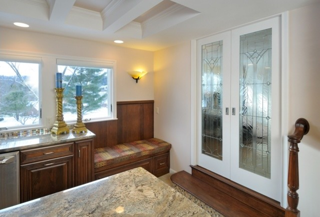 Doors to Dining Room traditional-kitchen