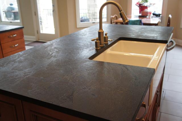 Soapstone Tile Countertops : Dorado soapstone installed kitchen
