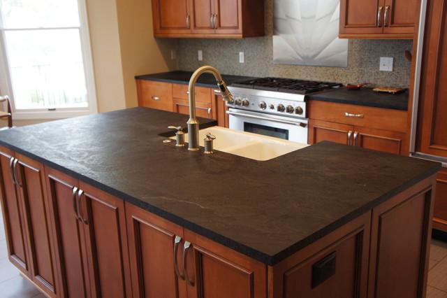 Dorado Soapstone Installed   Kitchen Traditional Kitchen