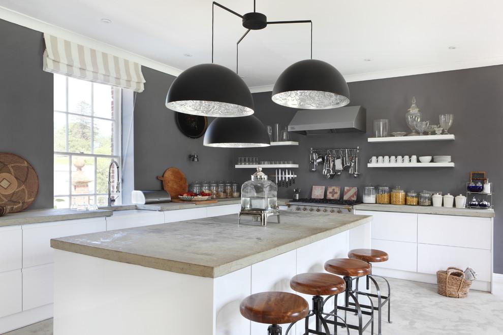 Kitchen - industrial kitchen idea in Dorset