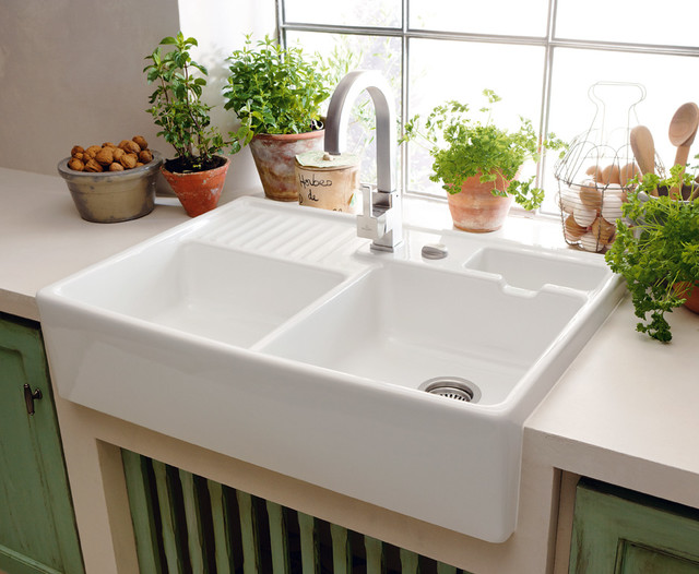 DOUBLE-BOWL SINK UNIT BELFAST - Country - Kitchen - London - by ...