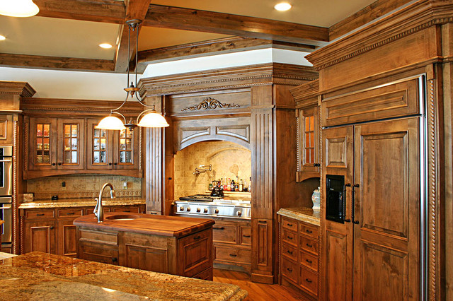 Double Island kitchen - Traditional - Kitchen - Minneapolis - by Wood Works Fine Custom ...