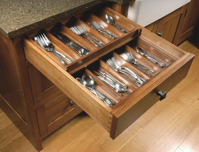 Double Silverware Drawer Craftsman Kitchen Cleveland
