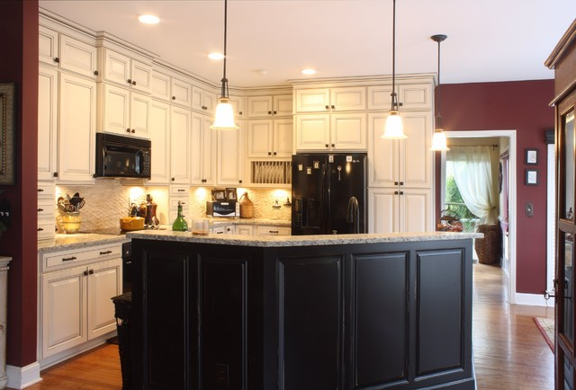 Double Stacked Cabinetry Eclectic Kitchen Atlanta