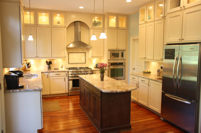 Double stacked cabinetry eclectic kitchen atlanta for Double kitchen cabinets