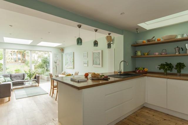 Double Y Extension For Artist In Biston Bristol Contemporary Kitchen