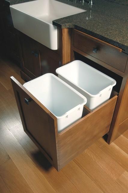 Double waste drawer craftsman kitchen cleveland by schrocks of walnut creek - Schrock cabinet hinges ...