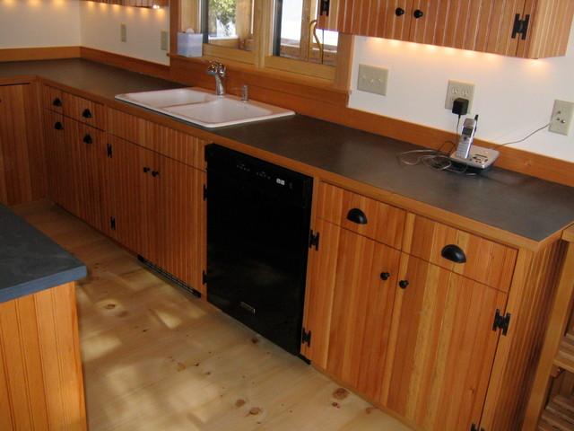Douglas Fir Beadboard Cabinets - Traditional - Kitchen ...