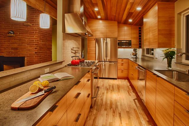 Douglas fir ikea kitchen contemporary kitchen for Kitchen cabinets seattle