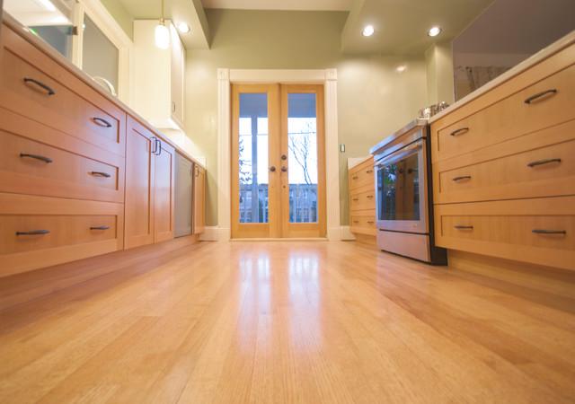 Douglas Fir Shaker Ikea doors & Kitchen Remodel Portland ...