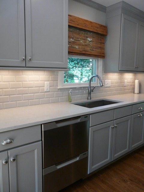 Dove Gray Kitchen Lovette Construction Transitional Kitchen - Dove grey kitchen cabinets