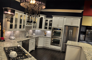 Dove White/Praa sands display - Traditional - Kitchen ...