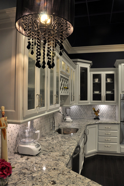 Dove White Praa Sands Display Traditional Kitchen