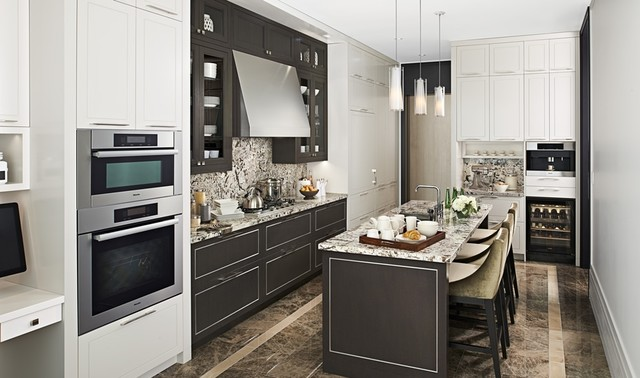 Downsview kitchen transitional kitchen design for Kitchen design montreal