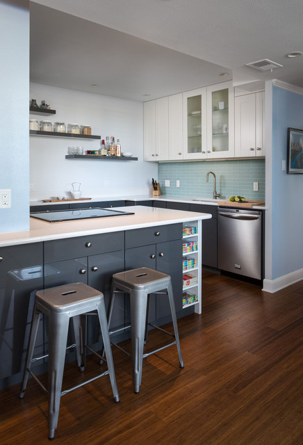 Downtown Condo Kitchen Remodel Contemporary Kitchen Austin By Loop Design Houzz Uk