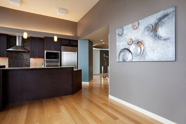 Downtown Condo Painting Modern Kitchen