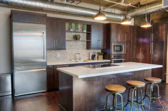 Downtown Los Angeles Loft Design Kitchen
