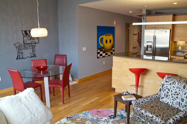 Downtown Madison Wi Condo Eclectic Kitchen Milwaukee By Dc Interiors Renovations