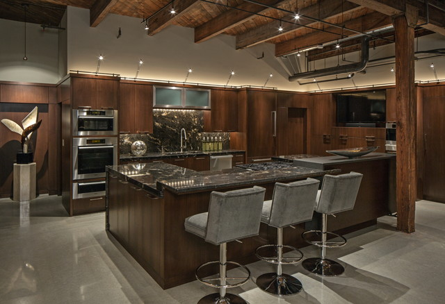 downtown penthouse contemporary kitchen omaha by