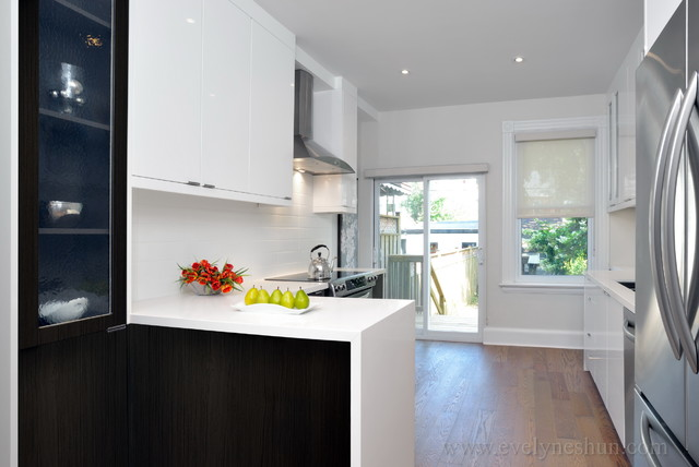Downtown Row House Renovation - contemporary - kitchen - toronto