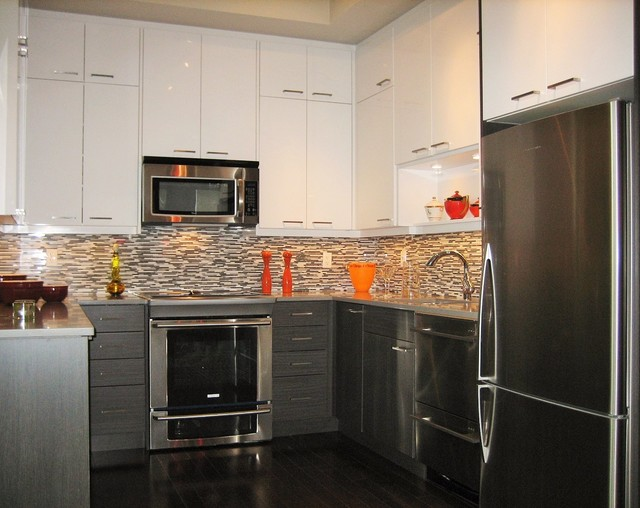 Downtown Toronto Condo - Modern - Kitchen - toronto - by ...