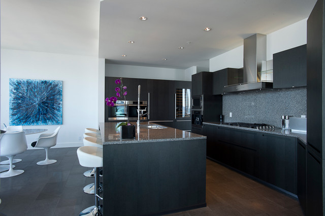 Downtown Vancouver Penthouse Contemporary Kitchen Vancouver By Kristin Balter Designs