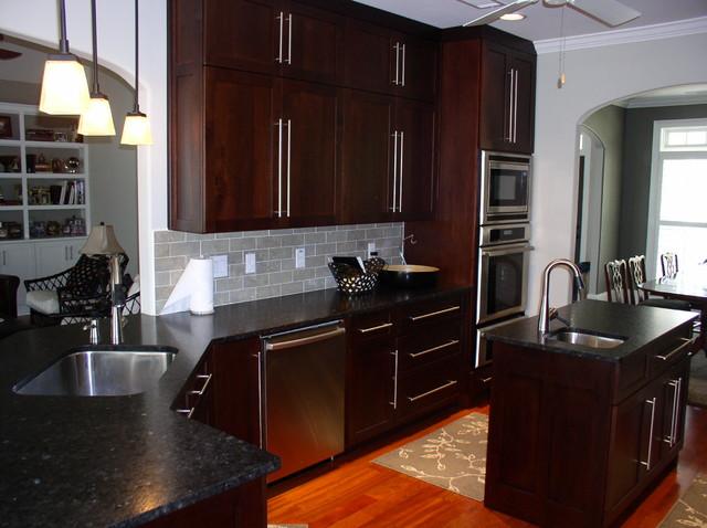 Modern kitchen with oak cabinets with modern kitchen cabinets atlanta