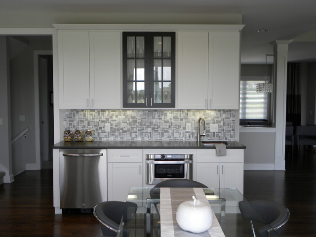 Dramatic Grey And White Contemporary