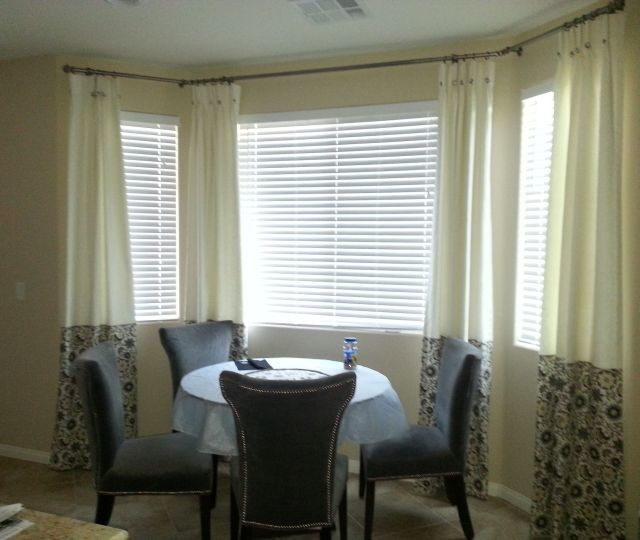 Drapes traditional-kitchen