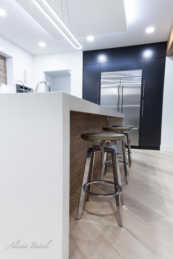 Kitchen - contemporary kitchen idea in Edmonton