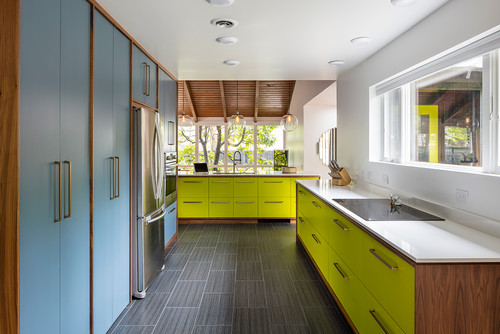 5 ways to make your midcentury modern kitchen layout better for Mid century modern kitchen cabinets