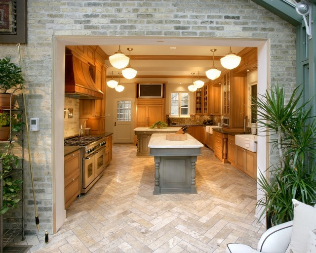 Dual Islands traditional-kitchen