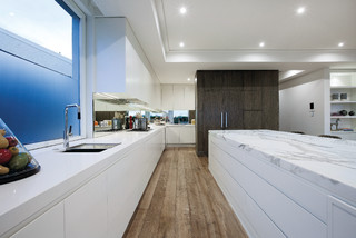 Duchateau Floors Marshall White Penthouse Modern Kitchen Melbourne By Duchateau Floors