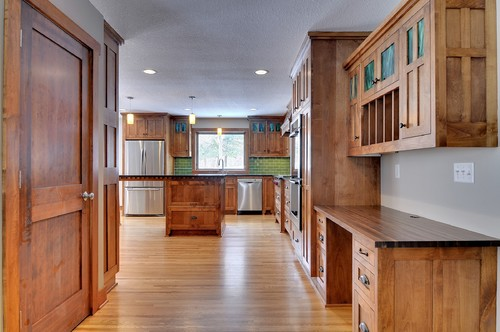 Love the cabinets. What type of wood and stain?