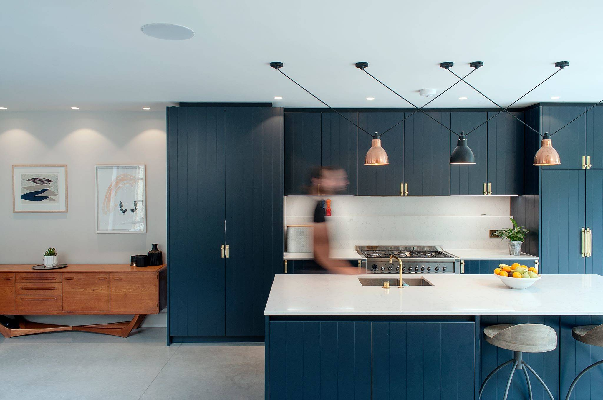 Blue And Gold Kitchen Ideas Photos Houzz