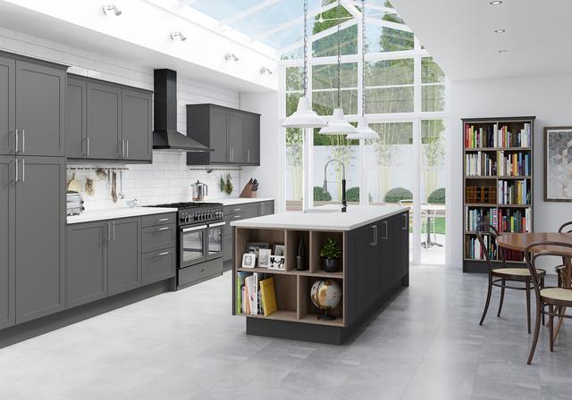 Bon Dunham Grey Contemporary Kitchen