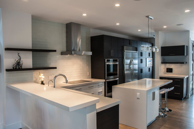 Duplex In Marda Loop, Calgary contemporary-kitchen